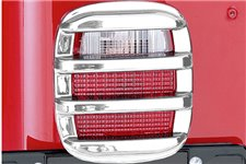 Light Cover Kit, Tail Light, Chrome : 76-06 Jeep CJ/Wrangler YJ/TJ