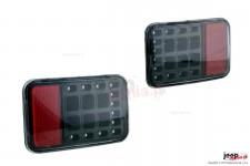 Lampy przeciwmgielne z funkcją światła wstecznego na tylny zderzak fabryczny : 07-17 Jeep Wrangler JK