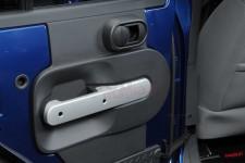 Rear Door Handle Trim, Silver : 07-10 Jeep Wrangler JKU
