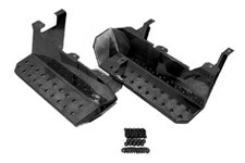 Side Step Kit, Factory Replacement, Semi Gloss Black : 76-86 Jeep CJ