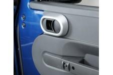 Door Handle Trim, Interior, Brushed Silver : 07-10 Jeep Wrangler JK