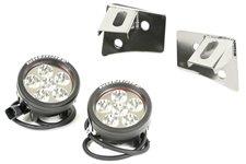 Windshield Bracket LED Kit, Stainless Steel, Round : 07-17 Wrangler JK