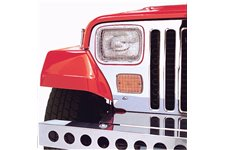 Stone Guard Kit, Stainless Steel : 87-95 Jeep Wrangler YJ