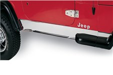 Rocker Panel Cover, Stainless Steel : 87-95 Jeep Wrangler YJ