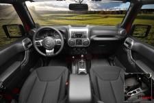 Interior Trim Accent Kit, Charcoal, Manual : 11-17 Jeep Wrangler JK