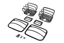 Euro Guard Kit, Black Chrome : 87-95 Jeep Wrangler YJ