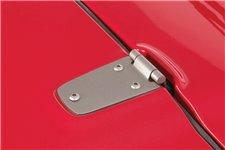 Hood Hinge Kit, Satin Stainless Steel : 98-06 Jeep Wrangler TJ