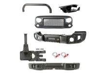 Spartacus Bumper Kit, Over-Rider/Tire Carrier/Grille : 07-18 Wrangler