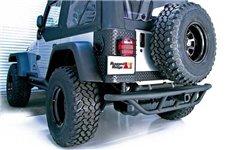 RRC Rear Bumper, 2 Inch Receiver Hitch : 87-06 Jeep Wrangler YJ/TJ