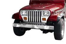 Stainless Steel Front Bumper : 87-95 Jeep Wrangler YJ