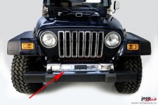 Frame Cover, Front, Stainless Steel : 97-06 Jeep Wrangler TJ