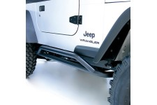 RRC Rocker Guard Kit, Black : 87-06 Jeep Wrangler YJ/TJ
