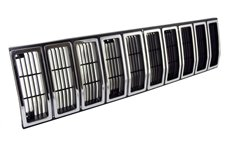 Grille Insert, Black/Chrome : 84-87 Jeep Cherokee XJ