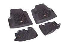 Floor Liners, Kit, Black : 97-06 Jeep Wrangler/Unlimited TJ/LJ